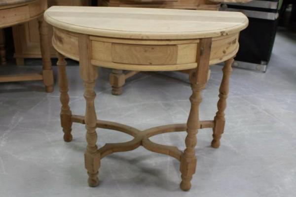 Halfronde Tafel Sidetable : Mooie houten halfronde tafel haltafel grenen eiken brocante