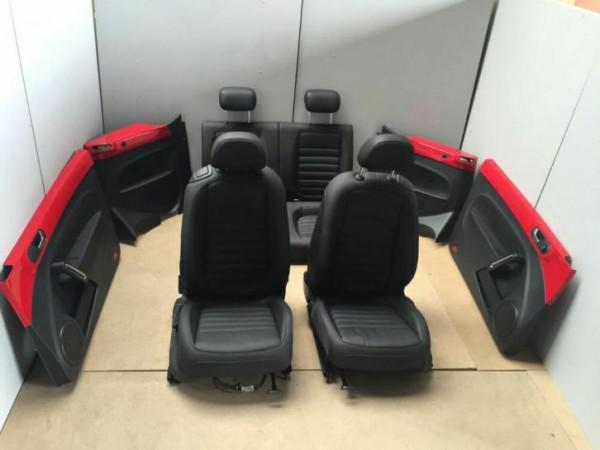 Vw beetle 5c zwart leder interieur met zijpanelen for Auto interieur reinigen rotterdam
