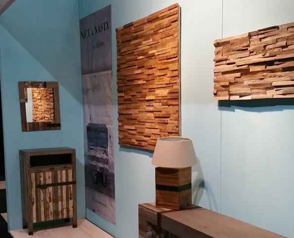 Houtstrips teakhouten wandbekleding en sloophout houten for 3d slaapkamer maken