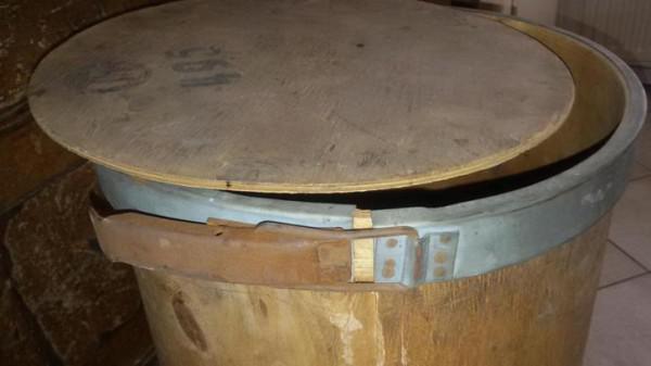 Stoer industriële opberg ton hout bijzettafel landelijk ...
