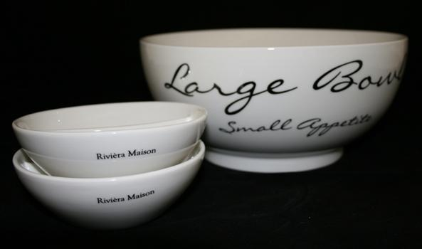 Wonderbaarlijk NIEUW Riviera Maison Large Bowl Small Appetite kom schaal RM NC-66