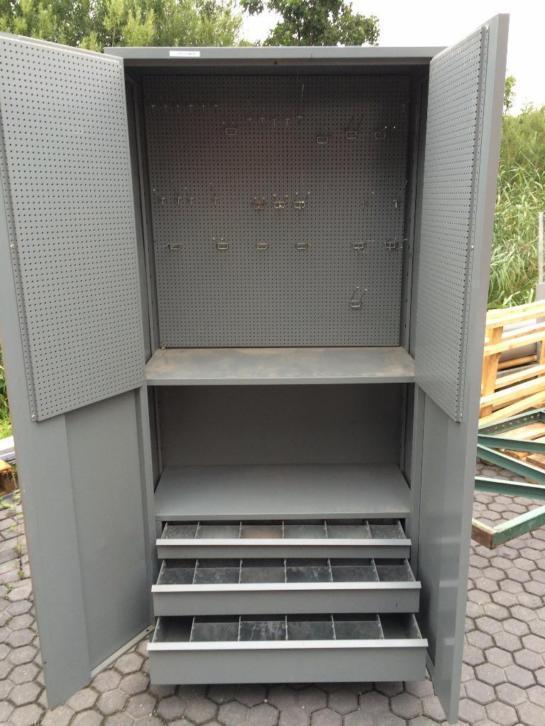 Stalen Gereedschapskast Metalen Kast Met Deuren En Laden