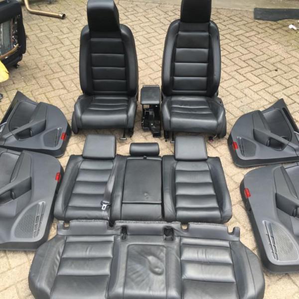 Golf 6 gtd leder leer interieur zwart stoelverwarming for Golf 6 interieur