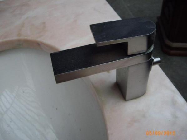 Wastafel nr 23 dubbele wastafel met marmer blad - Type marmer met foto ...