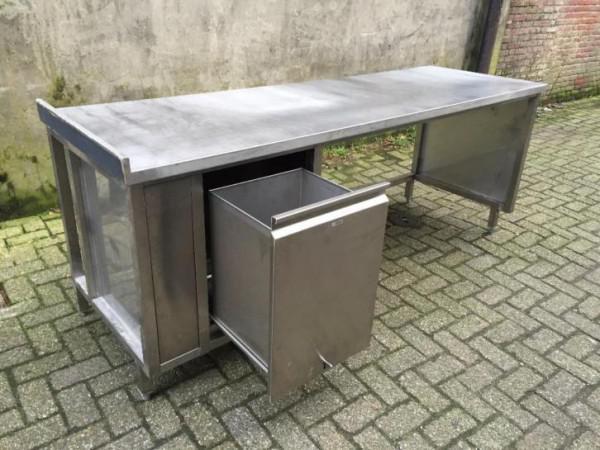 Tafel Prullenbak Rvs : Rvs werktafel tafel met afvalbak prullenbak cm huntingad