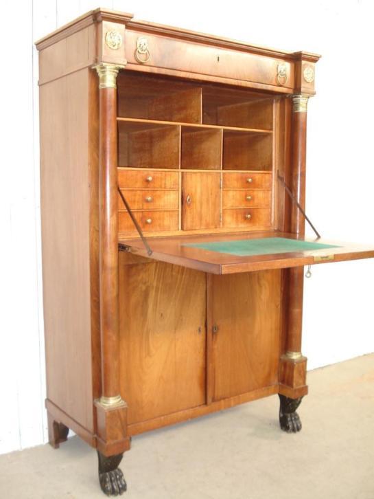 buro klepsecretaire bureau secretaire kast kantoor. Black Bedroom Furniture Sets. Home Design Ideas