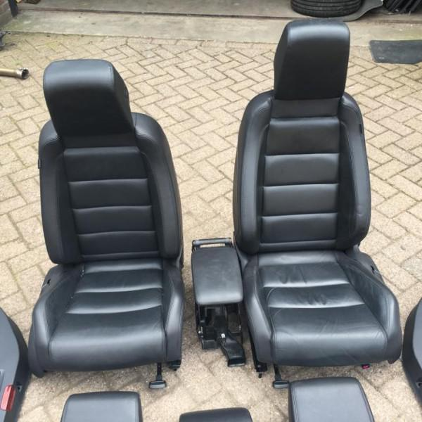 Golf 6 gtd leder leer interieur zwart stoelverwarming for Leder auto interieur