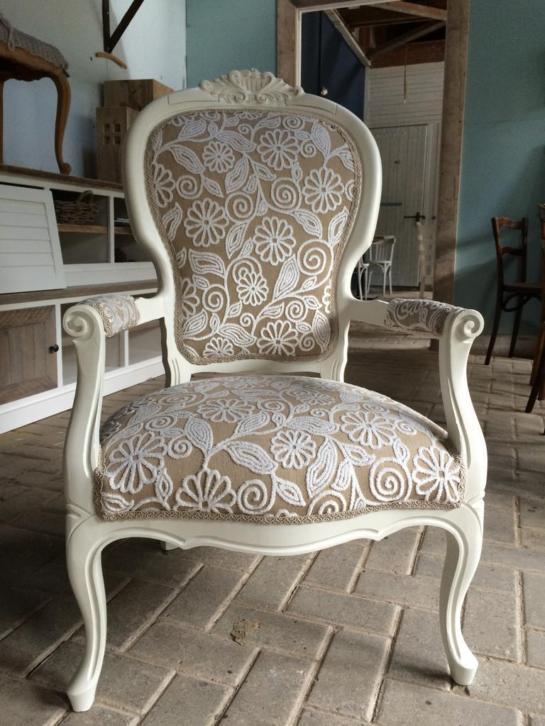 fauteuil brocante stoelen zetel barok queen anne stoel. Black Bedroom Furniture Sets. Home Design Ideas