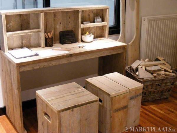 Bureau tafel steigerhout direct leverbaar for Steigerhout bureau
